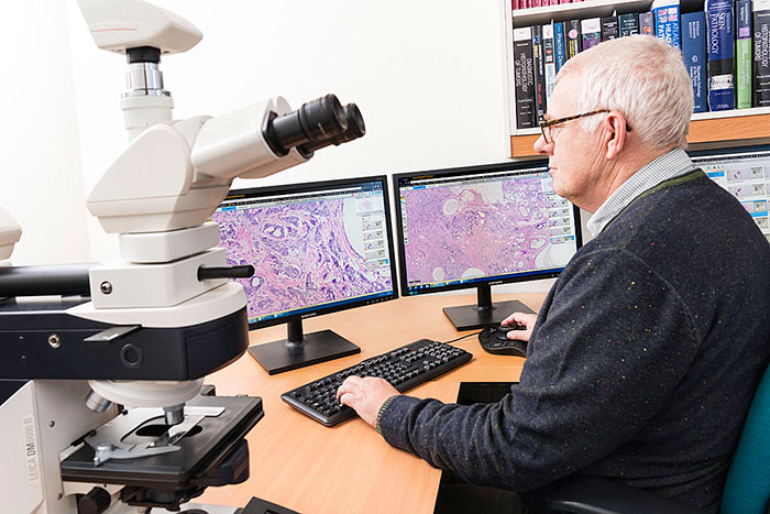 Paul Klinkhamer, pathologist at PAMM in Veldhoven, The Netherlands, working with Philips IntelliSite